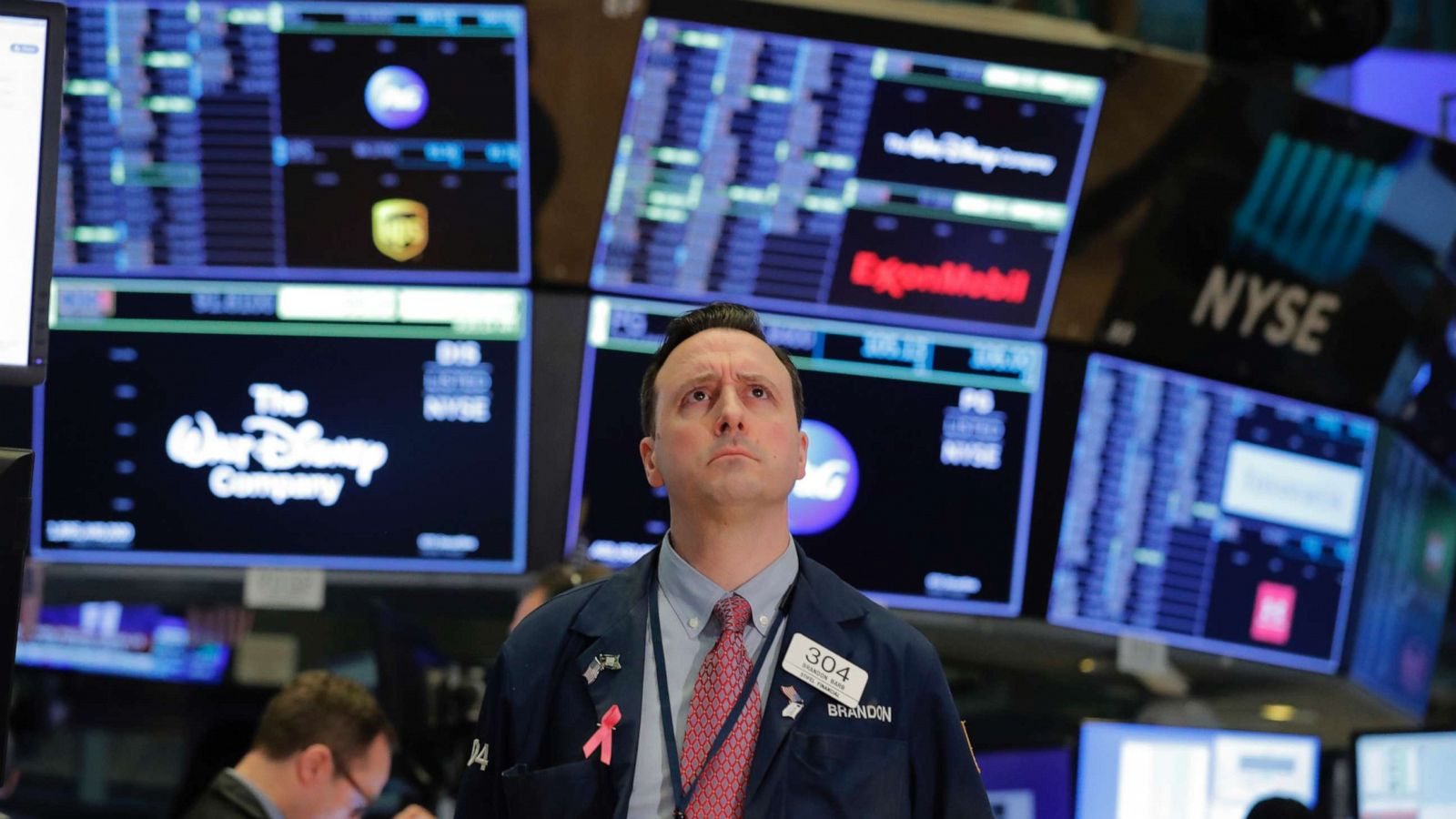 a stock market index shows
